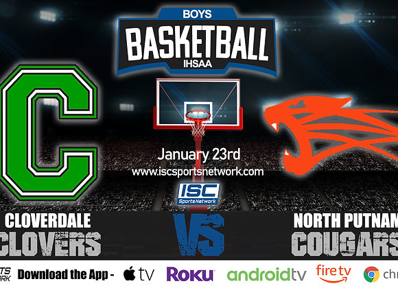 1/23/20 Cloverdale vs North Putnam - IHSAA Boys Basketball