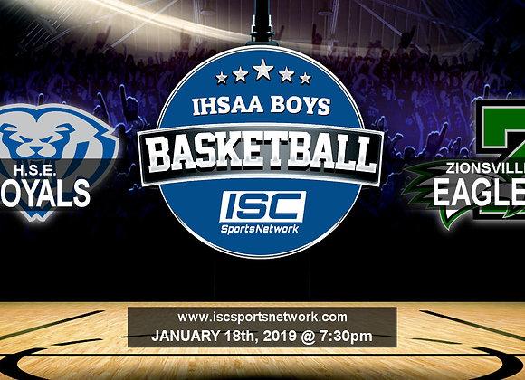 1/18/19 HSE vs Zionsville - IHSAA Boys Basketball