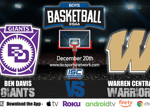 12/20/19 Ben Davis at Warren Central - IHSAA Boys Basketball