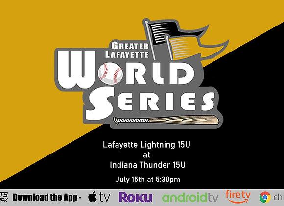 7/15/2020 Lafayette Lightning vs Indiana Thunder - Game P44 (16U)