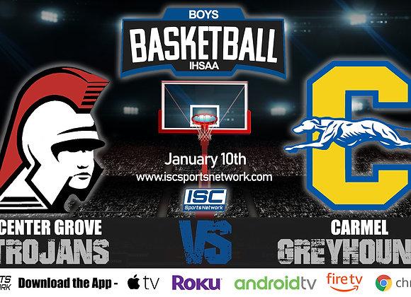 1/10/20 Center Grove at Carmel – IHSAA Boys Basketball