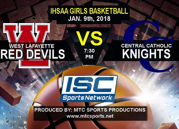 1/9/18 West Lafayette vs Central Catholic - GBB