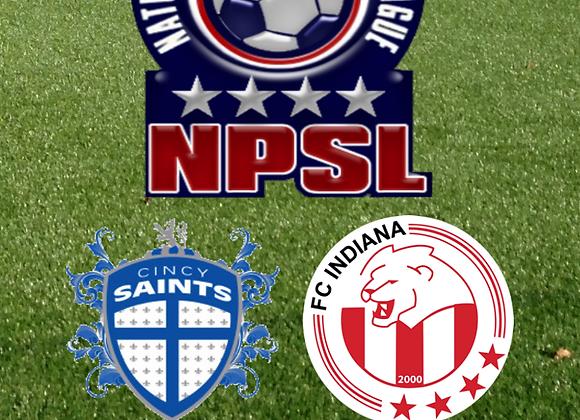 6/21/15 Cincy Saints vs FC Indiana - NPSL Soccer