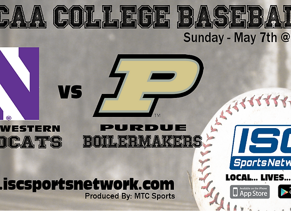 5/7/17 Northwestern at Purdue - NCAA Baseball