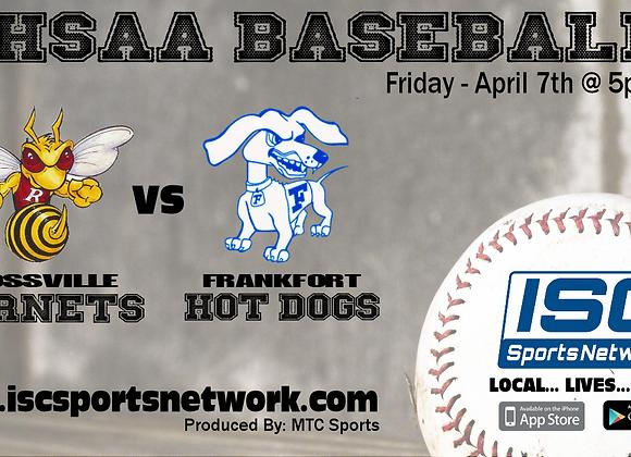 4/7/17 Rossville at Frankfort - IHSAA Baseball