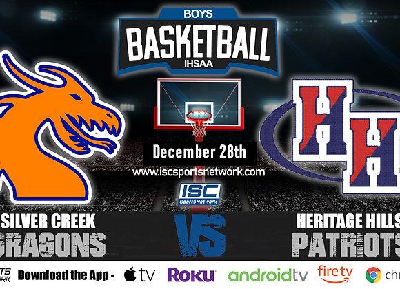 12/28/19 Silver Creek vs Heritage Hills - IHSAA Boys Basketball