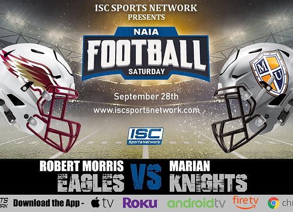9/28/19 Robert Morris at Marian - NAIA College Football