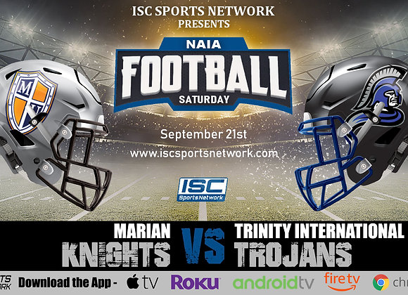 9/21/19 Marian at Trinity International - NAIA College Football