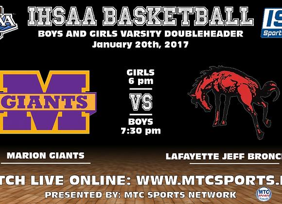 1/20/2017 Marion vs Lafayette Jeff - BBB