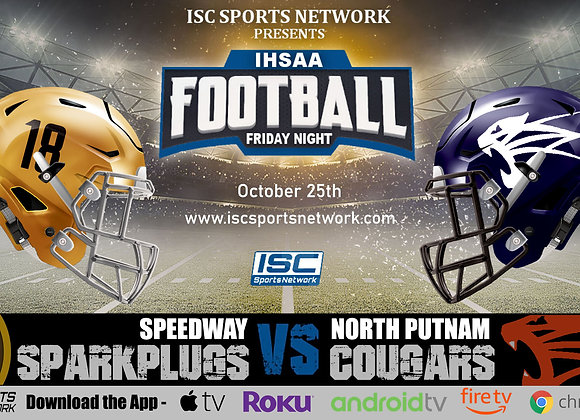 10/25/19 Speedway at North Putnam - IHSAA Football