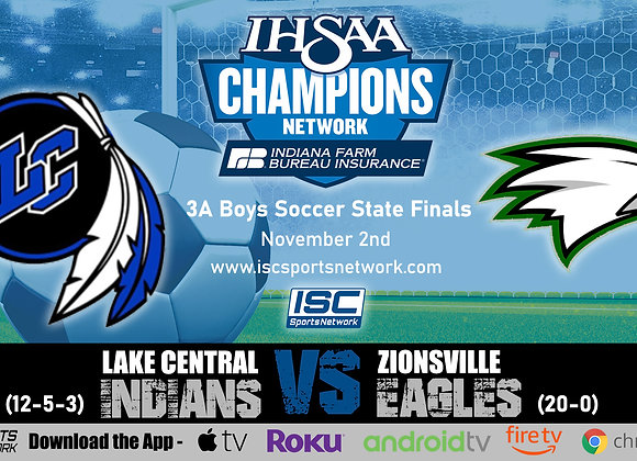 11/2/19 Lake Central vs Zionsville - 3A IHSAA Boys Soccer State Finals