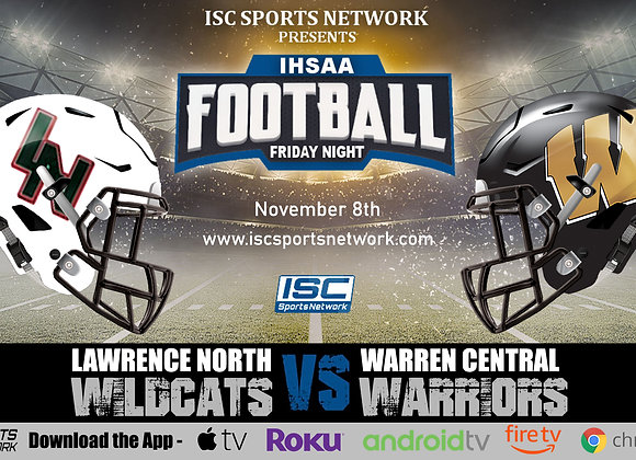11/8/19 Lawrence North at Warren Central - IHSAA Football