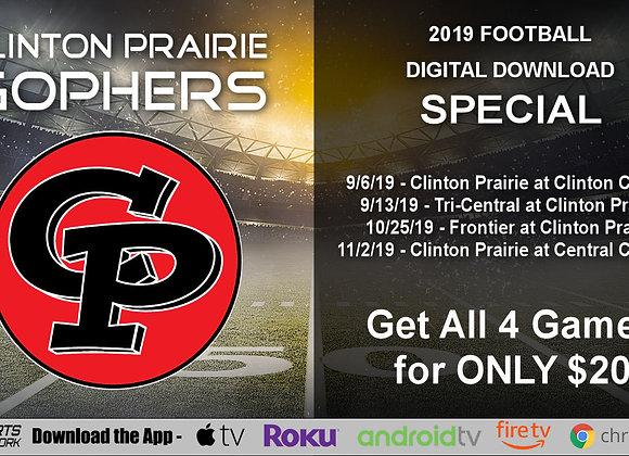 Clinton Prairie Gophers - 2019 IHSAA Football (Digital Downloads)