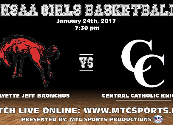 1/24/17 Lafayette Jeff vs Central Catholic - GBB