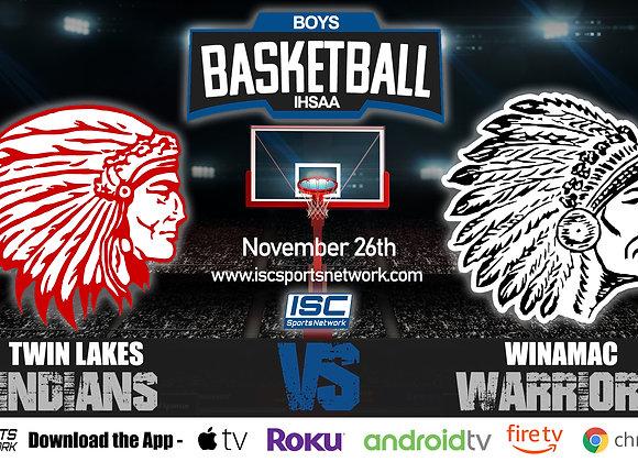 11/26/19 Twin Lakes vs Winamac - IHSAA Boys Basketball
