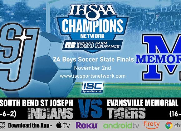 11/2/19 S.B. St. Joe vs Ev. Memorial - 2A IHSAA Boys Soccer State Finals