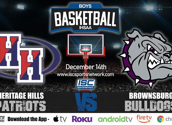 12/14/20 Heritage Hills vs Brownsburg - IHSAA Boys Basketball