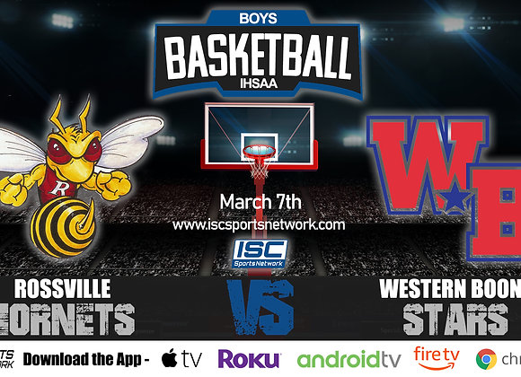 3/7/2020 Rossville vs Western Boon - IHSAA Boys Basketball