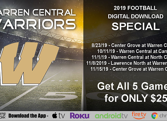 Warren Central Warriors - 2019 IHSAA Football (Digital Downloads)