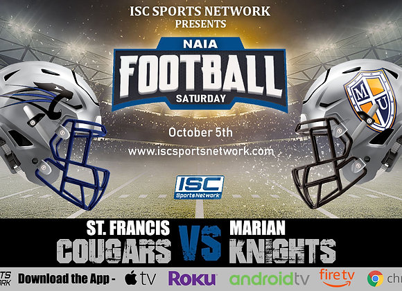 10/5/19 St. Francis vs Marian - NAIA College Football