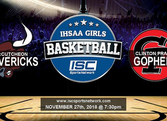 11/27/2018 McCutcheon at Clinton Prairie - Girls Basketball
