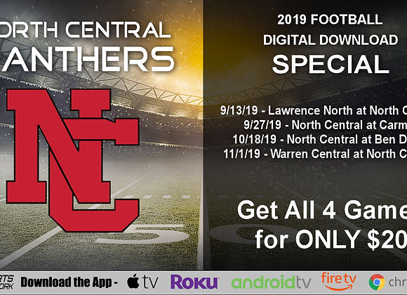 North Central Panthers - 2019 IHSAA Football (Digital Downloads)