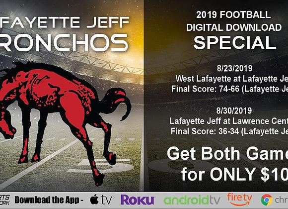 Lafayette Jeff Bronchos - 2019 IHSAA Football (Digital Downloads)