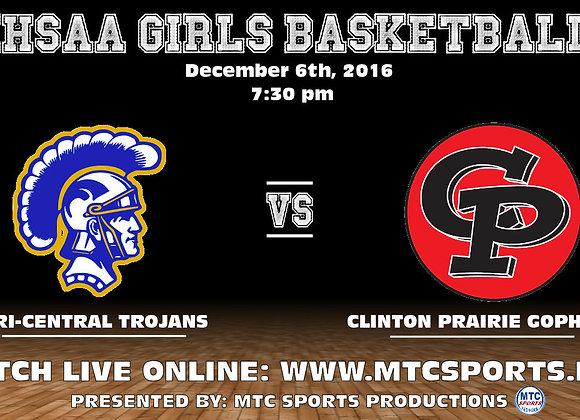 12/6/16 Tri-Central vs Clinton Prairie - GBB