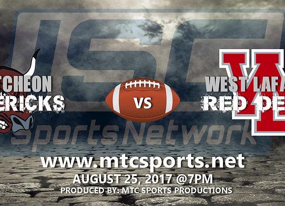 8/25/17 McCutcheon vs West Lafayette - FB
