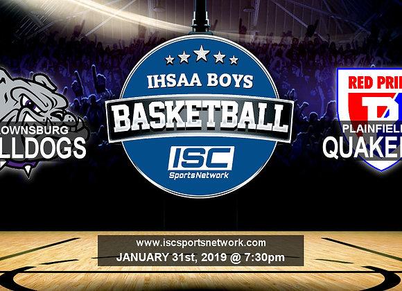 1/31/19 - Brownsburg at Plainfield - IHSAA Boys Basketball