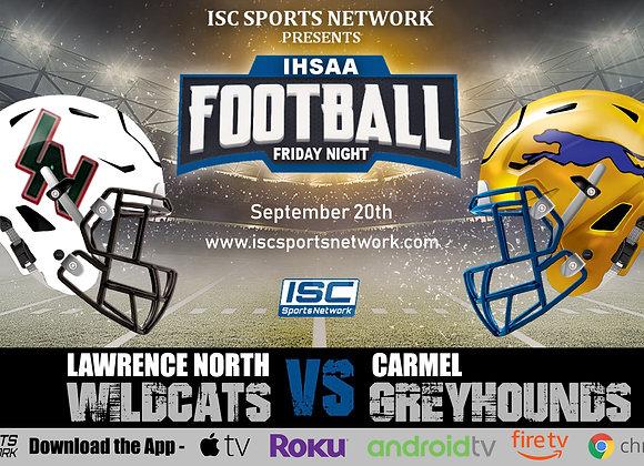 9/20/19 Lawrence North at Carmel - IHSAA Football