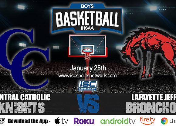 1/25/20 Central Catholic vs Lafayette Jeff - IHSAA Boys Basketball