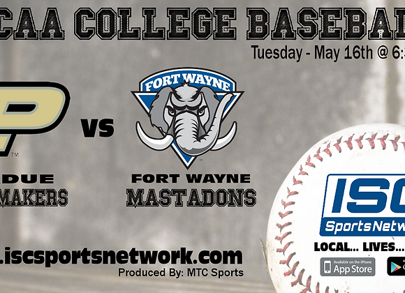5/16/17 Purdue at Fort Wayne - NCAA Baseball