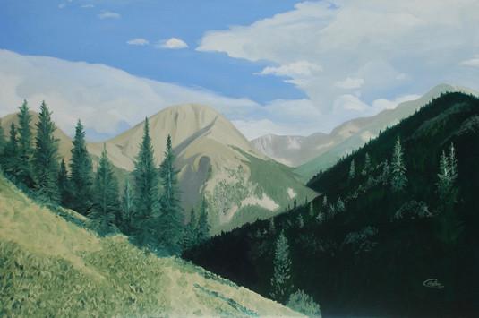Mile 54 Oil Painting