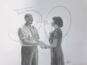 Anniversary pencil drawing