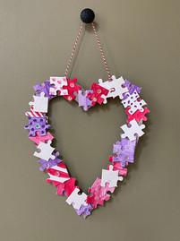 """A piece of my heart"" wreath"