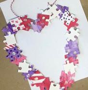 Happy Hearts: Puzzle wreath