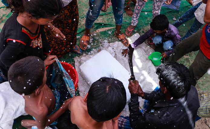 Rohingya Settlement, Nuh, Haryana