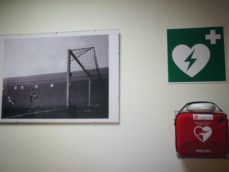 Defibrillator für das Wentorfer Sportheim