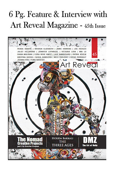 Cover photo with caption of art reveal m