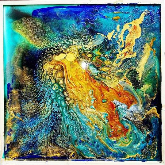 _Crystallized Lava_ Resin mixed media ab