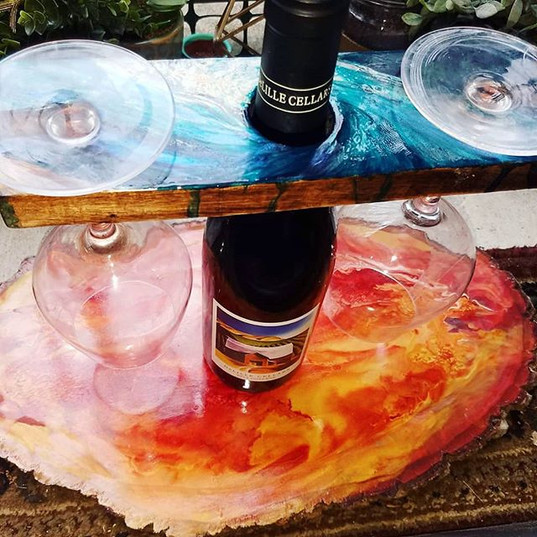 Fire & Ice Wine Display Set ~ Designed b