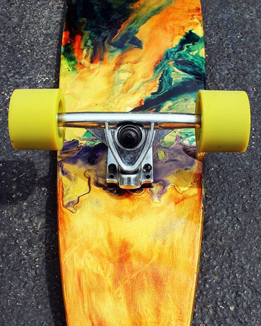 Detail on this Longboard I just dripped in paint✨🔥♠what i love about this paint is it changes so much in the sunlight 🌅 More detail shots co.jpg