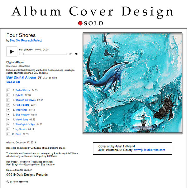 Album Cover Design - SOLD Art by Juliet