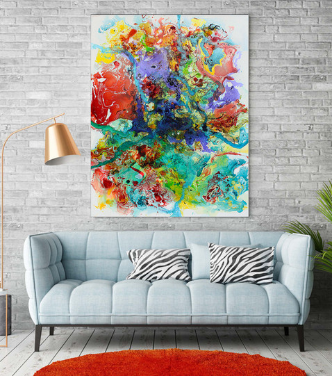 Blushing Color on Blue couch wall.jpg
