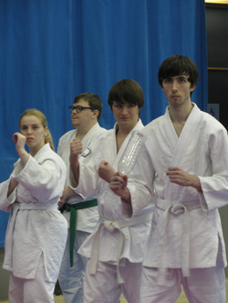 Russel in the White Belt competition