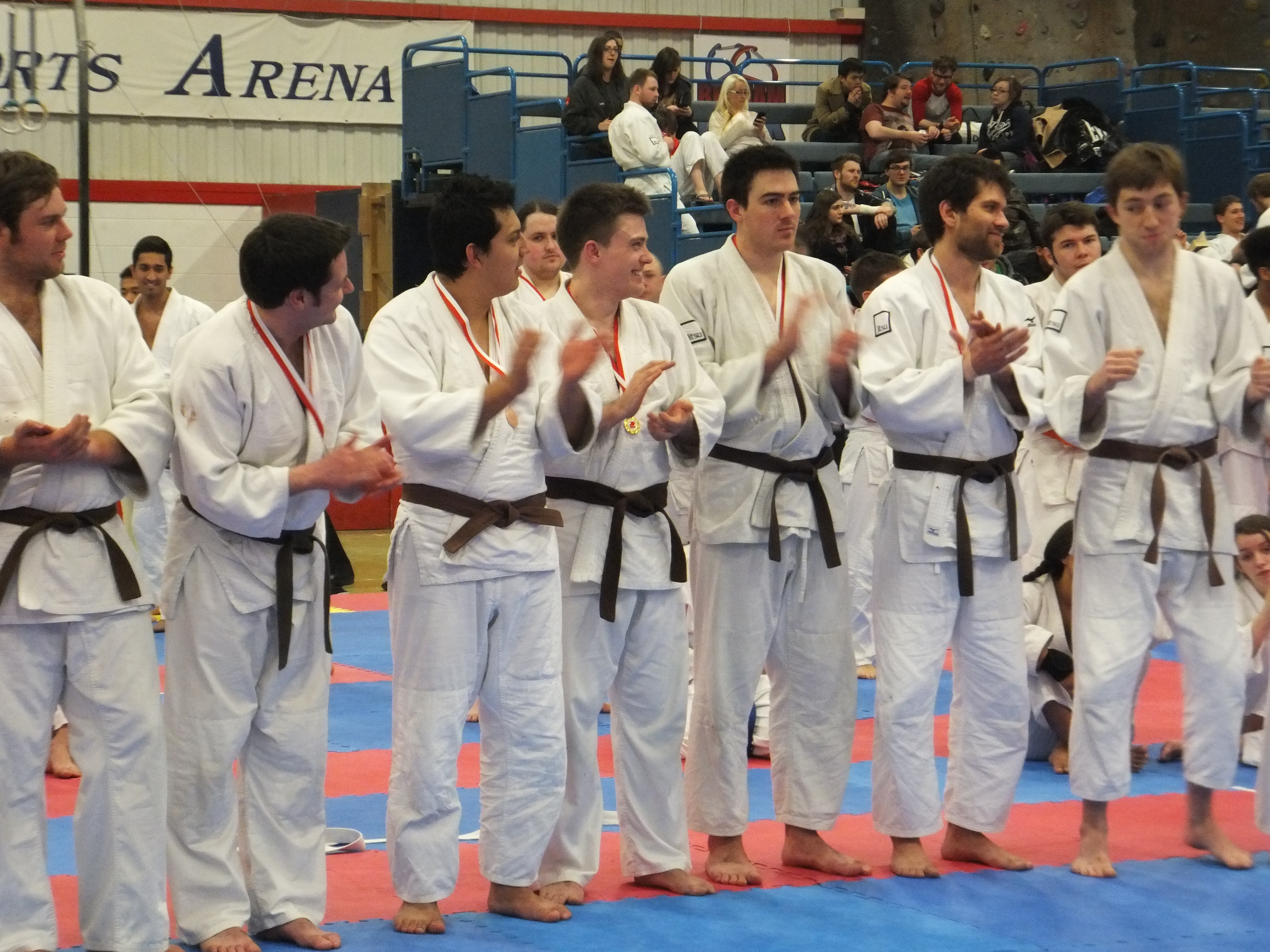 Brown belts with medals