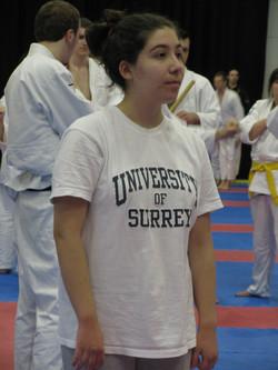 Elena representing Surrey Jitsu