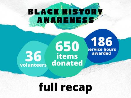 Black History Awareness RECAP