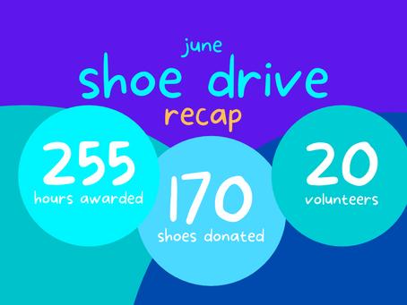June Shoe Drive RECAP